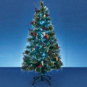 Premier Fibre Optic Snow Tip Christmas Tree - 1.8m