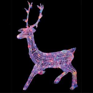 Premier 1.4m Stag LED Light Figure - Multi-Coloured