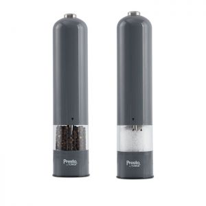 Presto by Tower Electric Salt and Pepper Mill Set - Grey