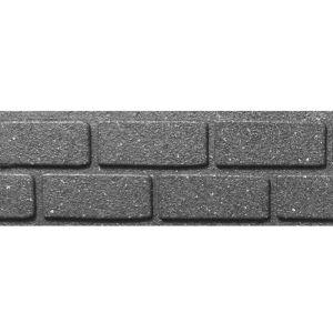 Primeur Ultra Curve Rubber Brick Border Edging, 9cm – Grey