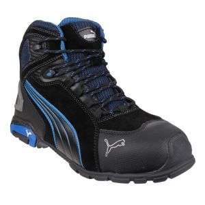 Puma Men's Rio Mid Safety Boots - Black/Blue