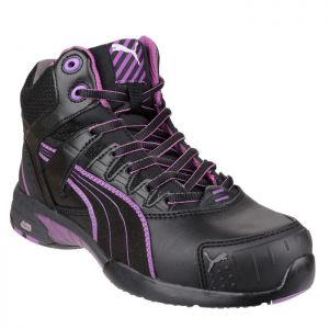 Puma Women's Stepper Mid Safety Boots - Black/Purple
