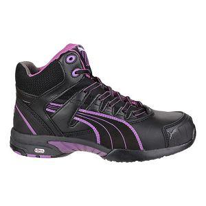 Puma Women's Stepper Mid Safety Boots - Black/Purple