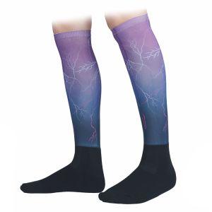 Shires Aubrion Hyde Park Riding Socks – Purple Lightning