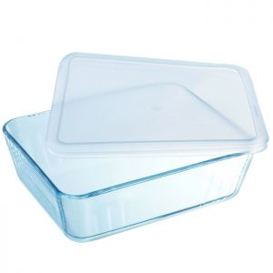 Pyrex Cook and Freeze Rectangular Glass Dish with Lid - 0.8 Litre