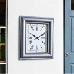 Outside In Quadrant Wall Clock - Grey