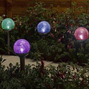 Smart Solar Rainbow Orb Marker Light