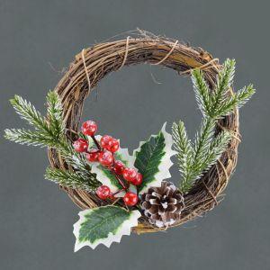 Traditional Rattan Wreath - 21cm