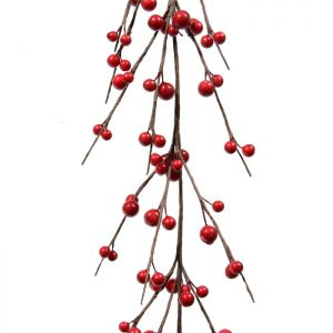 Decoris Red Berry Garland - 1.1m