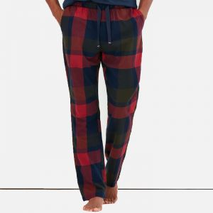 Joules Men's The Sleeper Lounge Trousers – Red Navy Check