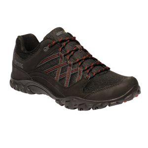 Regatta Mens Edgepoint III Low Walking Boots - Black / Classic Red