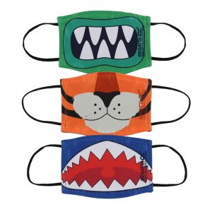 Regatta Kids Face Mask, Pack of 3 - Monster, Tiger, Shark