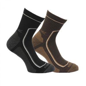 Regatta Active Lifestyle Socks - Black/Clove 2 Pack