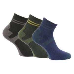 Regatta Active Lifestyle Socks - Raven/Bayleaf/Navy 3 Pack