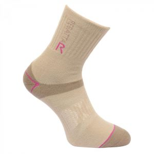 Regatta Women's Blister Protection Socks - Taupe/Viola