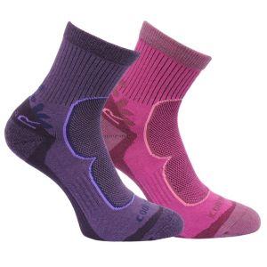 Regatta Women's Active Lifestyle Socks - Blackberry/Viola, 2 Pack