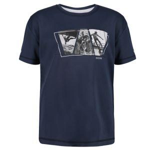 Regatta Children's Alvardo V Graphic T-shirt – Dark Denim