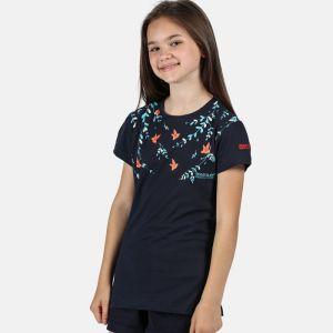 Regatta Children's Bosley III Printed T-shirt, Bird Print – Navy