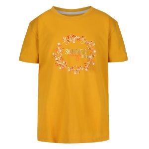Regatta Children's Bosley III Printed T-shirt, Summer Days Print – California Yellow