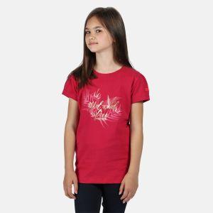 Regatta Children's Bosley III Printed T-shirt, Wild & Free Print – Duchess Pink
