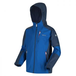 Regatta Children's Calderdale II Waterproof Hooded Walking Jacket – Nautical Blue / Dark Denim