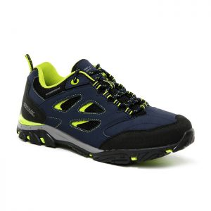 Regatta Children's Holcombe IEP Low Walking Shoes – Navy/Lime Punch