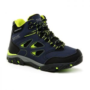 Regatta Children's Holcombe IEP Mid Walking Boots – Navy/Lime Punch