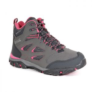 Regatta Children's Holcombe IEP Mid Walking Boots – Steel/Tulip