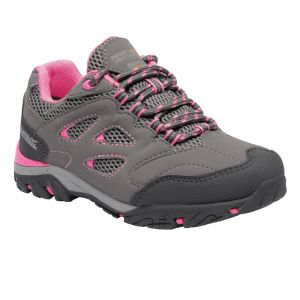Regatta Children's Holcombe IEP Low Walking Shoes – Steel/Tulip