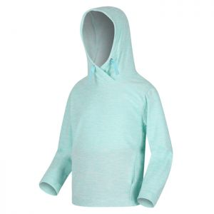 Regatta Children's Kalina Funnel Neck Lightweight Hooded Fleece – Aruba Blue