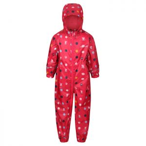 Regatta Children's Peppa Pig Pobble Puddle Suit – Bright Blush / Peppa