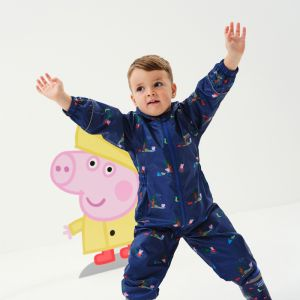 Regatta Children's Peppa Pig Pobble Puddle Suit – New Royal / Peppa