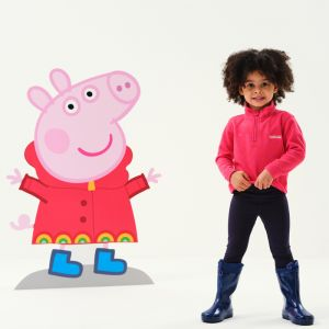 Regatta Children's Peppa Pig Printed Fleece – Bright Blush / Peppa Floral