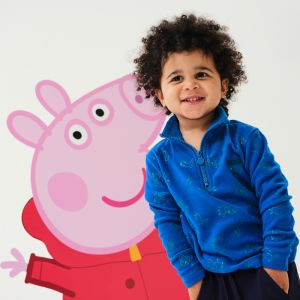 Regatta Children's Peppa Pig Printed Fleece – Oxford Blue / George Dino