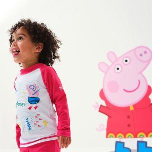 Regatta Children's Peppa Pig Rash Suit – Bright Blush