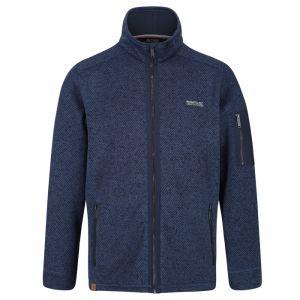 Regatta Men's Garret Heavyweight Knitted Full Zip Fleece – Navy