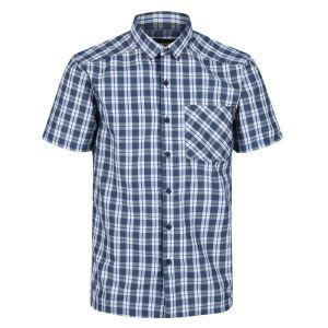 Regatta Men's Mindano V Short Sleeved Checked Shirt – Dark Denim