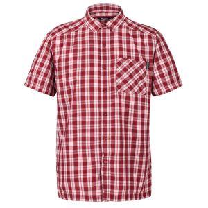 Regatta Men's Mindano V Short Sleeved Checked Shirt – Delhi Red