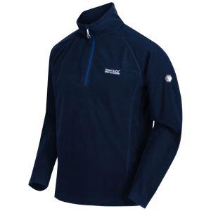 Regatta Men's Montes Lightweight Half Zip Mini Stripe Fleece – Nautical Blue