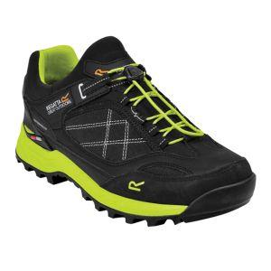 Regatta Men's Samaris Pro Low Walking Shoes– Black/Lime Punch