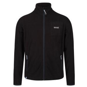 Regatta Men's Stanner Lightweight Full Zip Grid Fleece – Black