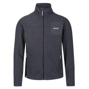 Regatta Men's Stanner Lightweight Full Zip Grid Fleece – Seal Grey