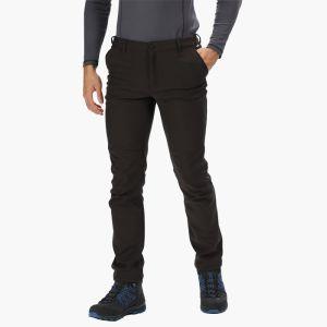 Regatta Mens's Fenton Wind Resistant  Softshell Trousers - Black