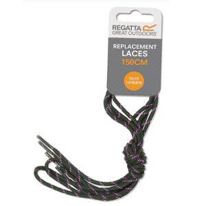 Regatta Water Resistant Replacement Laces, 150cm – Black Vivid Viola