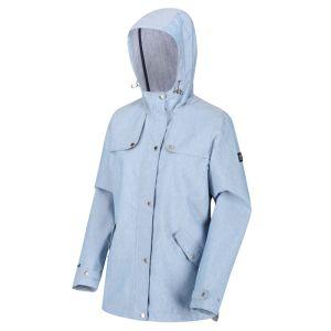 Regatta Women's Bertille Lightweight Hooded Waterproof Jacket - Chambray