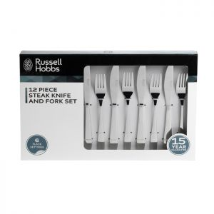 Russell Hobbs 12 Piece Steak Knife and Fork Set – Stainless Steel
