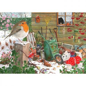 House Of Puzzles The Oakridge Collection MC536 Robin Redbreast Jigsaw Puzzle - 1000 Piece