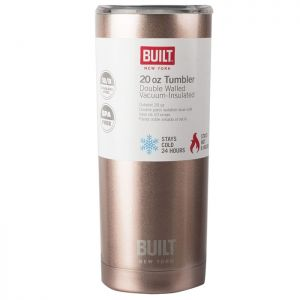 Built Double Walled Stainless-Steel Travel Mug, 565ml – Rose Gold