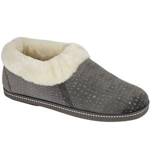 Jo & Joe Women's Rosella Bootee Slipper - Grey