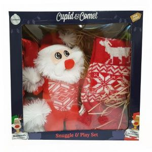 Rosewood Cupid and Comet Luxury Christmas Snuggle and Play Set for Dogs